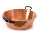 MAUVIEL 4713 - M'passion Collection - Not hammered Copper Jam Pan with cast iron handles