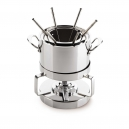 MAUVIEL 5205 - M'cook Collection - Stainless steel Fondue Set with glass lid, cast stainless steel handles