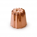"MAUVIEL 4180 - M'passion Collection - Set of 8 Copper & Tin inside ""Cannelé"" mold"