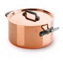 MAUVIEL 6431 - M'héritage Collection - Copper Stewpan stainless steel inside with cast iron handles