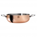 De BUYER 6232 - Prima Matera Induction Collection - copper Rounded sautepan stainless steel inside