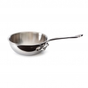 MAUVIEL 5212 - M'cook Collection - Curved Splayed Saute Pan in cast stainless steel with cast iron handle