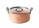 DE BUYER 6466 - Copper stewpan stainless steel inside and cast iron handles with lid