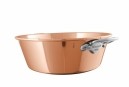 MAUVIEL 4513 - M'PASSION COLLECTION - NOT HAMMERED COPPER JAM PAN WITH CAST STAINLESS STEEL HANDLES