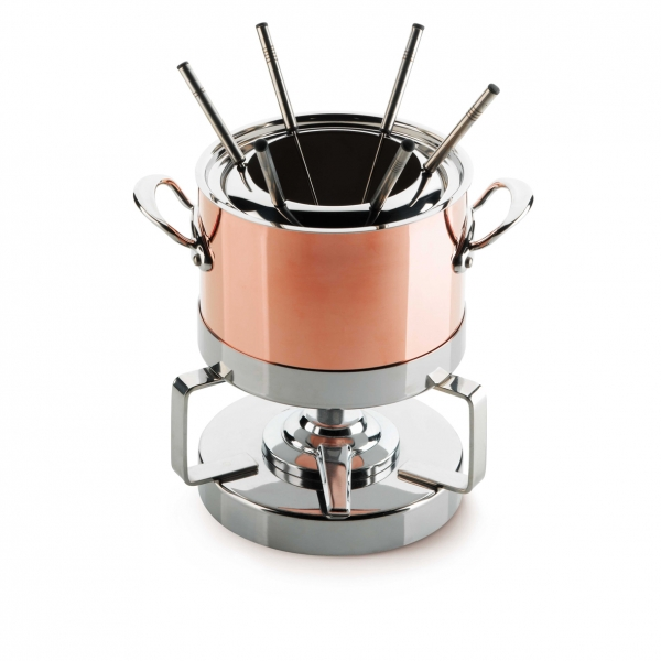 copper stainless steel fondue set mauviel. Black Bedroom Furniture Sets. Home Design Ideas