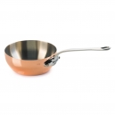 MAUVIEL 6112 - M'héritage Collection - Cooper & Stainless steel Curved Splayed Saute Pan, cast stainless steel handle