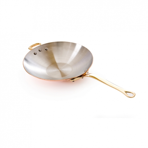 Chinese Pan Wok Copper Stainless Steel Inside Mauviel