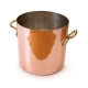 MAUVIEL 2148 - M'tradition Collection - Copper Stockpot and tin inside with bronze handles and lid