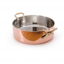 MAUVIEL 2152 - M'héritage Collection - Copper Rondeau stainless steel  inside with bronze handles