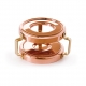 MAUVIEL 4301 - M'plus Collection - Copper Heater with candle for small saucepan, bronze handles